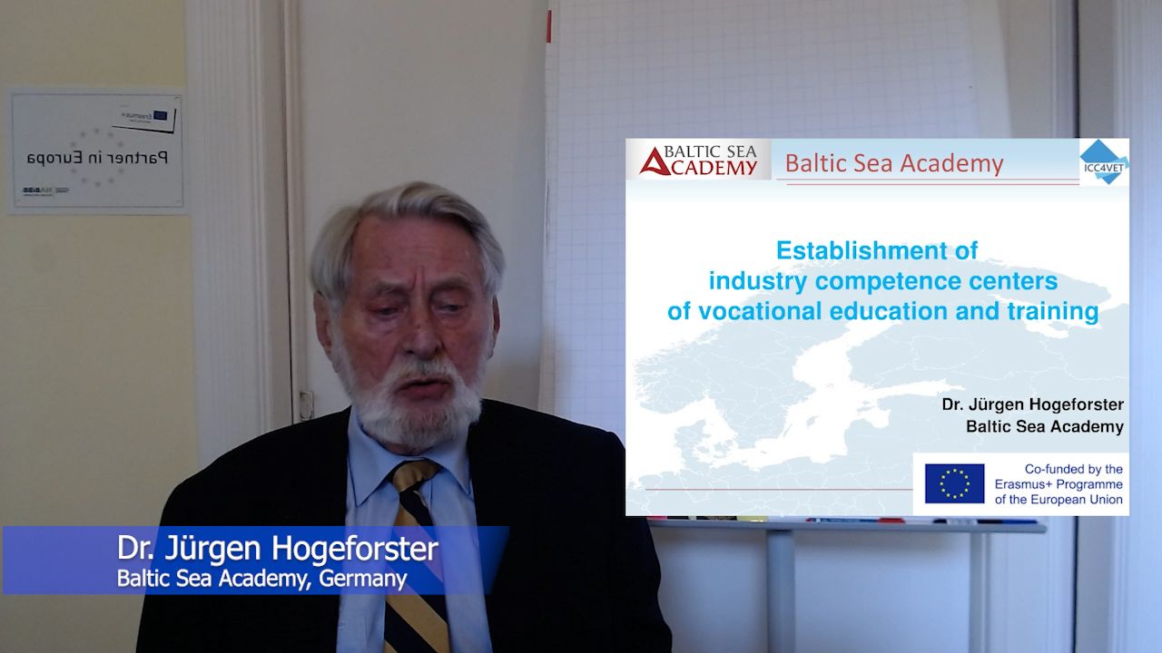 2 ICC4VET- Establishment of industry competence centers of vocational education and training - Dr Juergen Hogeforster